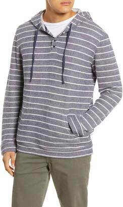 Onia Micah Stripe Pullover Hoodie