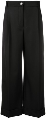 Alexander McQueen Contrast Side Band Trousers