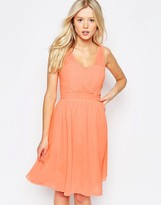 B.young Cross Front Skater Dress