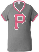5th & Ocean Girls' Pittsburgh Pirates Triple Flock T-Shirt