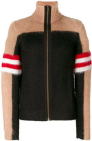 No.21 colour block zip up cardigan