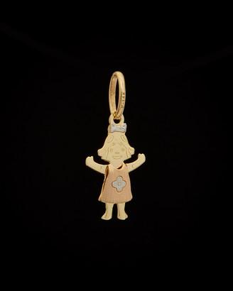 Italian Gold 14K Tri-Tone Girl Pendant
