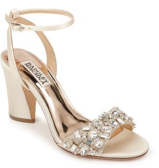 Badgley Mischka Jill Satin Block-Heel Sandals