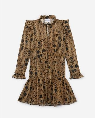 The Kooples Patterned short formal dress with frills