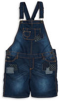 Vigoss Girls 7-16 Patchwork Denim Overalls