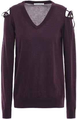 Autumn Cashmere Cold-shoulder Cashmere Top