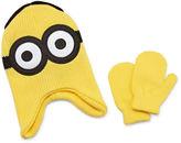 Asstd National Brand Reversible Minion Hat and Mitten Set - Toddler Boys 2t-4t