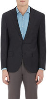 Luciano Barbera MEN'S MICRO CHECKED WOOL TWO-BUTTON SPORTCOAT