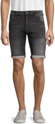 ProjekRaw Whiskered Bermuda Denim Shorts