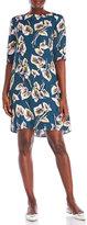 Marni Printed Half Sleeve Shift Dress