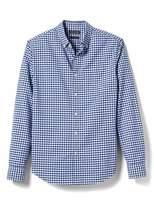 Banana Republic Grant Slim-Fit Cotton-Stretch Gingham Oxford Shirt