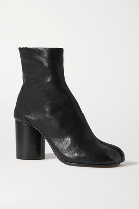 Maison Margiela Tabi Split-toe Leather Ankle Boots - Black
