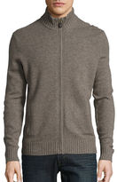 Black Brown 1826 Wool-Blend Zip-Up Sweater