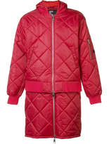 Hood by Air 'against' Quilted Bomber Jacket - Red - Size S