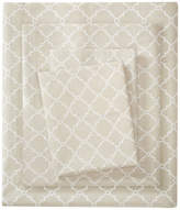 Madison Home USA Percale Printed Sheet Set, Tan, King