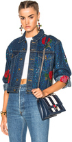 Ashish Denim Jacket with Rose Embroidery