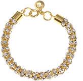 Gloria Vanderbilt Gold-Tone Crystal Mesh Chain Bracelet