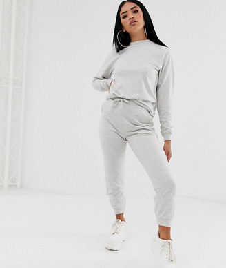 Asos Design DESIGN tracksuit ultimate sweat / jogger with tie-Grey