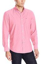 Izod Men's Oxford Solid Long Sleeve Shirt