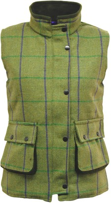 Game Technical Apparel Game Womens Abby Tweed Gilet Quilted Waistcoat Bodywarmer - Purple