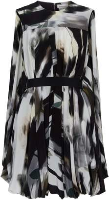 Alexander McQueen Silk Belted Dress