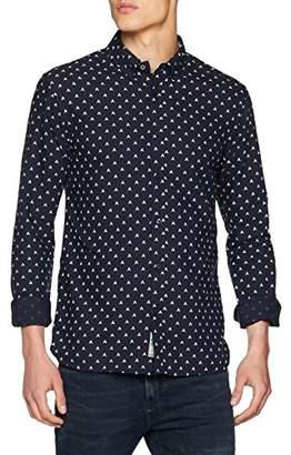 Scotch & Soda Men's AMS Regular Fit Allover Print with Seasonal Artw Casual Shirt,XX-Large