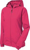 Sport-Tek - Ladies Colorblock Hooded Windbreaker Jacket. LST76