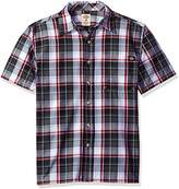 Dickies Men's Short Sleeve Square Bottom Plaid Shirt