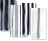Williams-Sonoma Williams Sonoma Multi-Pack Striped Kitchen Towels, Set of 4, Navy