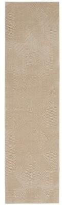 "Calvin Klein Orlando Modern Textured Gray/Saffron Area Rug Rug Size: Runner 2'2"" x 7'6"""