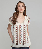 Lucky Brand Daphne Embroidered Top