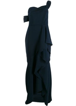 Marchesa one-shoulder maxi dress