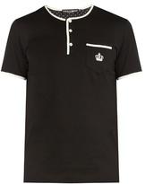 Dolce & Gabbana Contrast-trim short-sleeved henley T-shirt