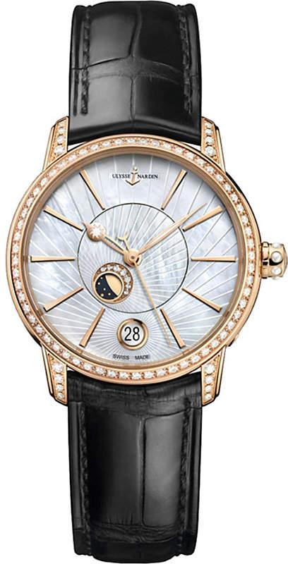 Ulysse Nardin 8296-123BC-2/91 Classic Lady Luna rose-gold and diamond watch