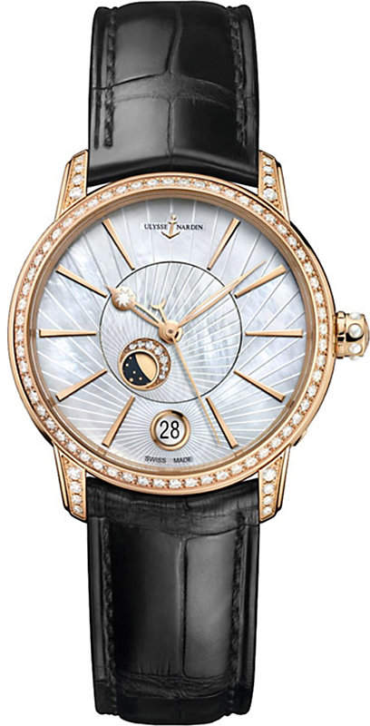 Ulysse Nardin 8296-123BC-2/91 Classic Lady Luna rose-gold and diamond watch