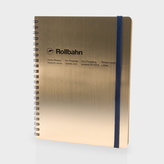 Paul Smith Delfonics - Large Metallic Gold Rollbahn Notebook
