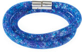 Swarovski Stardust Convertible Crystal Mesh Bracelet/Choker, Blue, Small