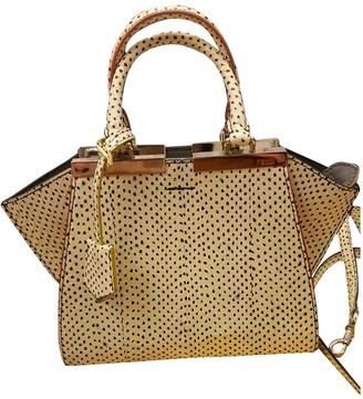 Fendi 3Jours White Python Handbags