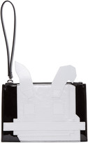 McQ by Alexander McQueen Black and White Electro Bunny Pouch
