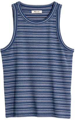 Madewell Westville Tank Mini Rib (Recycled Blue) Women's Clothing