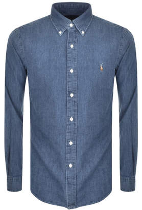Ralph Lauren Slim Fit Denim Shirt Blue