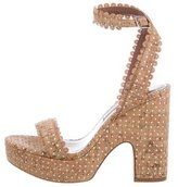 Tabitha Simmons Laser Cut Platform Sandals