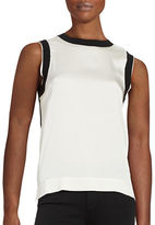 DKNY Two-Tone Sleeveless Top