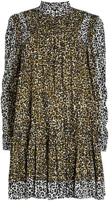 Ulla Johnson Amira Leopard Puff Sleeve Dress