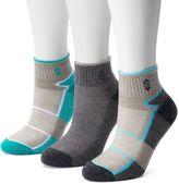 Free Country Women's 3-pk. Colorblock Wool-Blend Quarter Socks