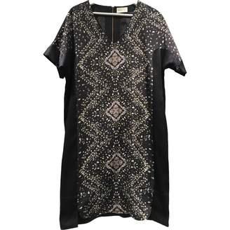 Megan Park Navy Silk Dress for Women