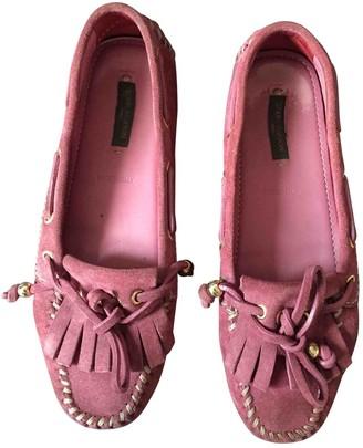 Louis Vuitton Pink Suede Flats