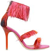Gianluca Capannolo 90mm Fringed Jacquard Sandals