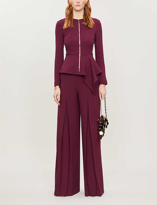 Roland Mouret Delen asymmetric-panel wool jacket