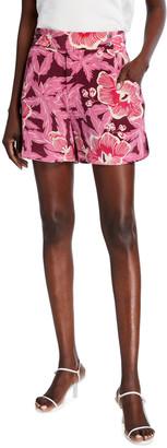 Equipment Lyra Floral-Print Silk Shorts